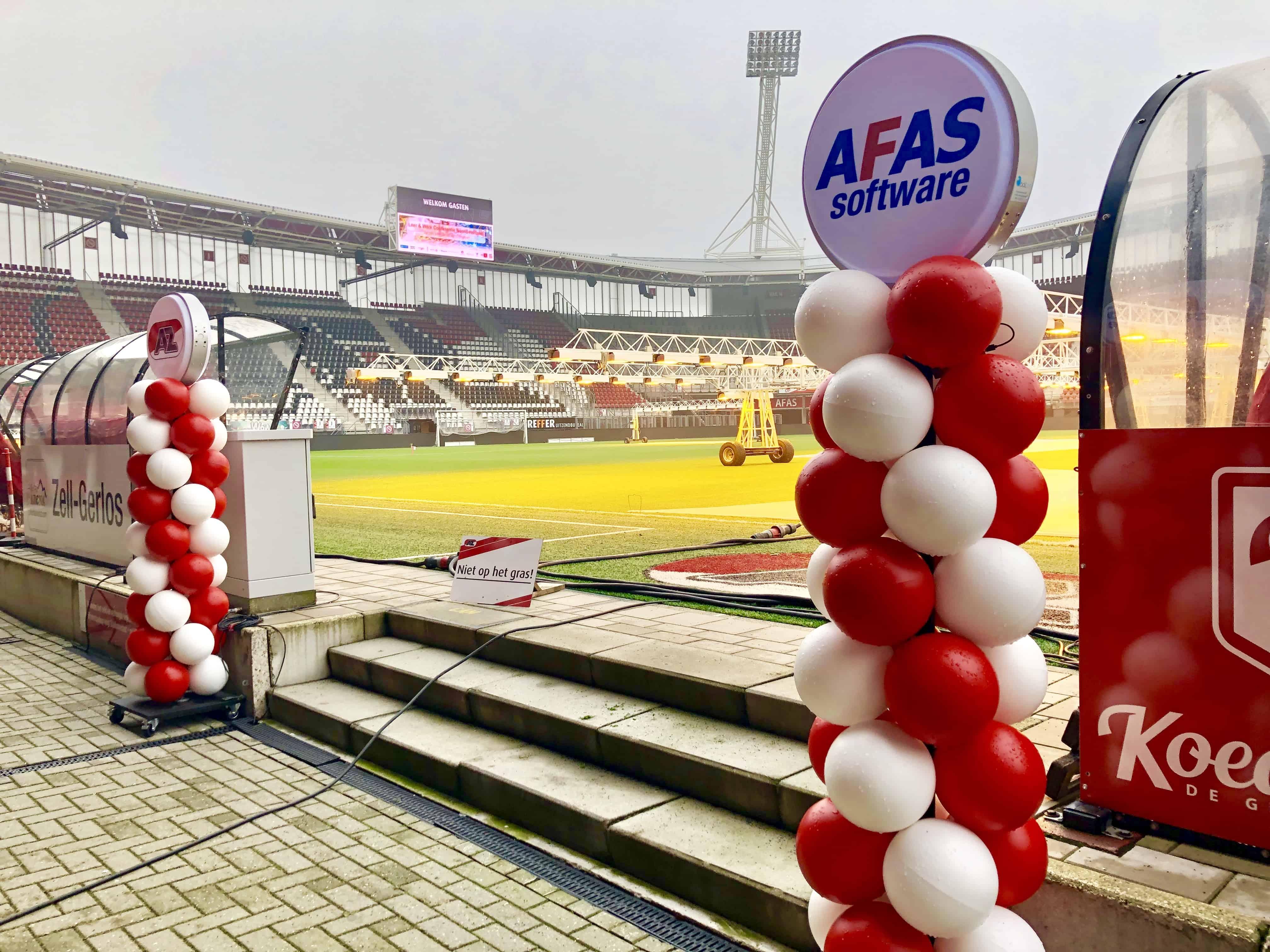 AFAS stadion met duurzame ballonnen
