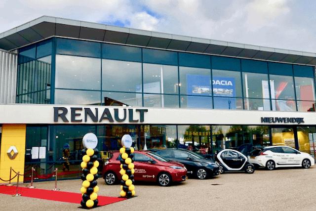 Ballonpilaren bij Renault Nieuwendijk