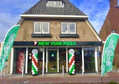 Ballonpilaar NY Pizza Nijverdal