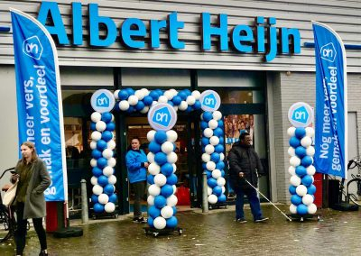 Ballonnenpilaar Albert Heijn