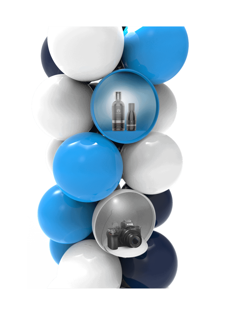 Ballonpilaar als verkoopdisplay