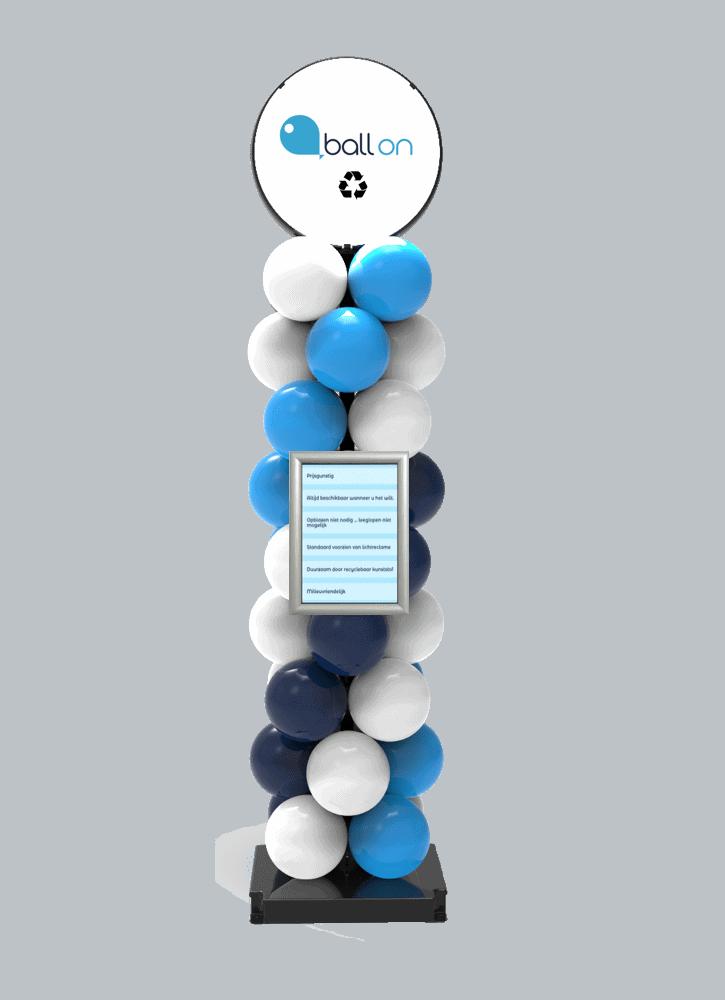 Ballonpilaar met kliklijst