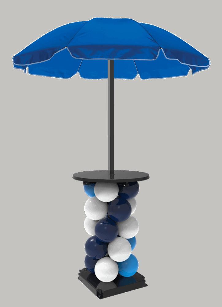 Unieke statafel met parasol