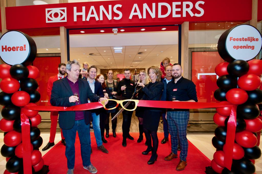 Ballon pilaar winkelopening Hans Anders