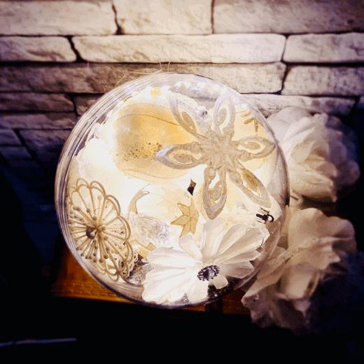 Transparante vulbare bal kunstof homedecoratie