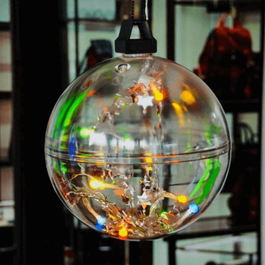 Transparante KerstBal Kleur LED