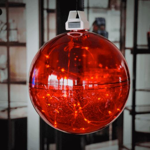 Doorzichtig Rood KerstBal Kleur LED
