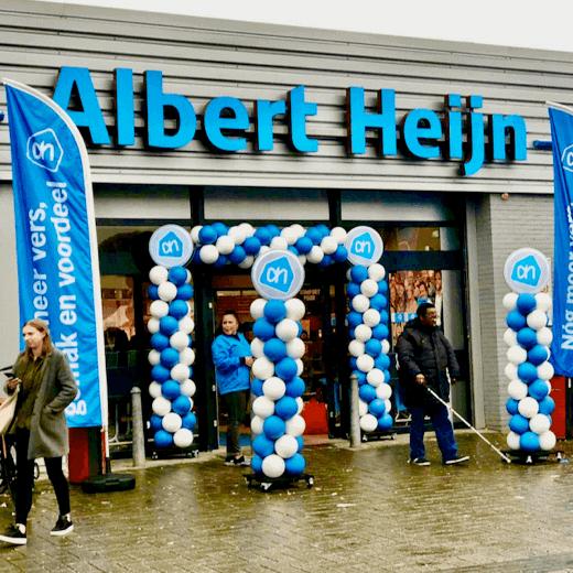 Duurzame Ballonnenboog en Ballonnenpilaar bij Albert Heijn